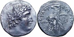 Ancient Coins - PHOENICIA, Tyre. 126/5 BC-AD 65/6. AR Shekel, JUDAS' 30 PIECES OF SILVER. Very rare date, only 6 in CoinArchives.