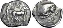 Ancient Coins - SICILY, Gela. Circa 425-420 BC. AR Tetradrachm.