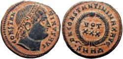 Ancient Coins - Constantine I. AD 307/310-337. eyes raised to God. Stunning example !!