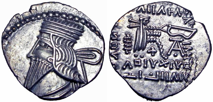 Ancient Coins - KINGS of PARTHIA. Vologases III. 105-147 AD.