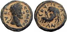 Ancient Coins - Biblical, Decapolis. Nysa-Scythopolis. Commodus. AD 177-192. interesting Mask of Silenos type.