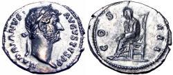 Ancient Coins - Hadrian. AD 117-138. AR Denarius.