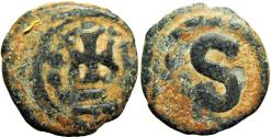 Ancient Coins - Byzantine, Heraclius. 610-641. AE 6 nummi , Alexandria mint.