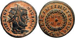 Ancient Coins - Licinius I, AE3 of Ticinum, 320 AD. Very rare.