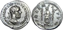Ancient Coins - Macrinus. AD 217-218. AR Denarius.