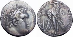 Ancient Coins - Phoenicia, Tyre AR Shekel. Dated CY 81 = 46/5 BC. Very rare,  JUDAS' 30 PIECES OF SILVER.