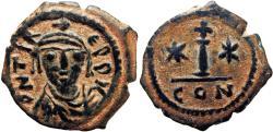 Ancient Coins - Maurice Tiberius. 582-602. Æ Decanummium .