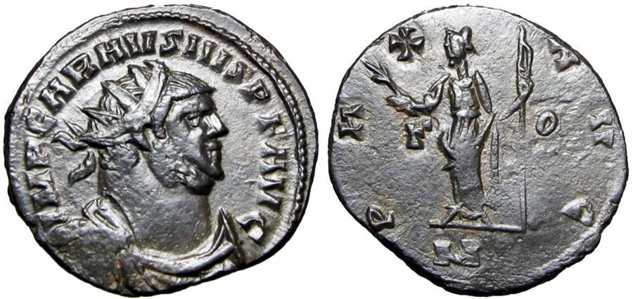 Ancient Coins - Carausius Æ Antoninianus. Londinium, AD 287-293.