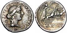 Ancient Coins - C. Annius T. f. T. n. and L. Fabius Hispaniensis AR Denarius. North Italy or Spain, 82-81 BC.