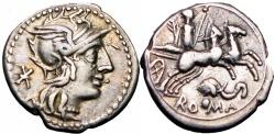 Ancient Coins - Roman republic,  L. Caecilius Metellus Diadematus. 128 BC.