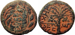 Ancient Coins - JUDAEA, Herodians. Herod III Antipas, with Gaius (Caligula), Roman Emperor. 4 BCE-39 CE.