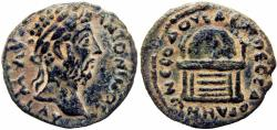 Ancient Coins - Biblical, Arabia, Adraa. Marcus Aurelius. AD 161-180.  finest known for this rare coin and mint.