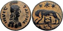 Ancient Coins - Ostrogoths, Athalaric Æ 20 Nummi. Municipal coinage of Rome, AD 526-534.