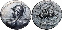 Ancient Coins - Bactria. Eukratides, c. 170-145 BC.