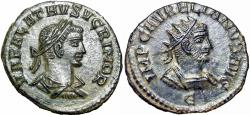 Ancient Coins - Aurelian, with Vabalathus. AD 270-275. a Gem coin, bold and almost FDC.