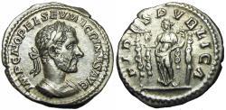 Ancient Coins - MACRINUS (11/04 / 217- 8 / 06/218) Rome, Very rare denarius.