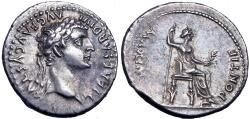 """Ancient Coins - Tiberius. AD 14-37. Biblical  """"Tribute Penny"""" type. lovely example !!"""