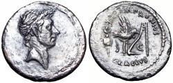 Ancient Coins - Divus Julius Caesar (died 44 BC). AR denarius , bold portrait.