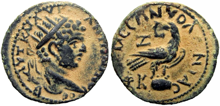 Ancient Coins - SYRIA, Seleucis and Pieria. Emesa. Caracalla. AD 198-217. Stunning for the type.