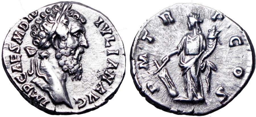 Ancient Coins - Didius Julianus. AD 193. attractive portrait !!!