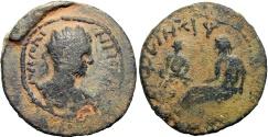 Ancient Coins - Biblical , Adraa. Gallienus/ Valerianus . AD 253-268, Unique and unpublished mule of Valerian reverse and Gallienus obverse !!!!