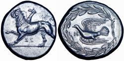 Ancient Coins - Sikyonia, Sikyon AR Stater. Circa 350-330 BC. Stunning details .