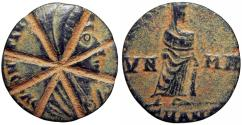 Ancient Coins - Converted into a top or gaming token, Constantine I.