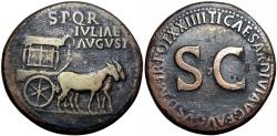 Ancient Coins - Julia Augusta (Livia). Augusta, AD 14-29. Æ Sestertius .