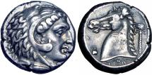 Ancient Coins - Sicily, Siculo-Punic, Entella AR Tetradrachm. c. 300-289. Toned good VF.