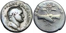 Ancient Coins - Vespasian. AD 69-79. AR Denarius, Scarce .