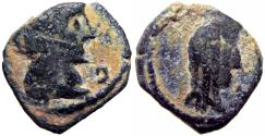 Ancient Coins - NABATAEA. Princess Phasaelis, wife of Herod Antipas, Daughter of Aretas IV, 9 BC -40 AD , Unique !