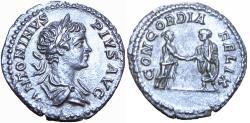Ancient Coins - Caracalla. AD 198-217. AR Denarius.