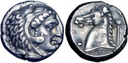 Ancient Coins - Sicily, Siculo-Punic, Entella AR Tetradrachm. c. 300-289. Toned good VF.