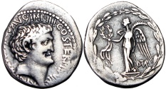 Ancient Coins - The Triumvirs. Mark Antony. Summer 31 BC. Assassin of Caesar - Ally of Antony.