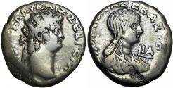Ancient Coins - EGYPT, Alexandria. Nero, with Poppaea. AD 54-68.