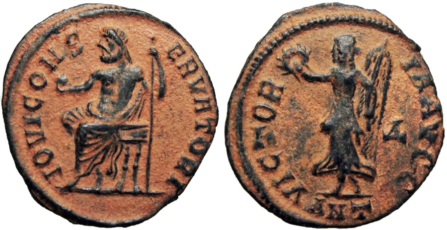 Ancient Coins - temp. Maximinus II. AD 310-313.  A stunning example !!!!!