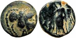 Ancient Coins - NABATAEA. Obodas I. Circa 87-60 BC. unpublished transitional type.