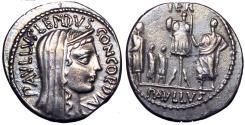Ancient Coins - L. Aemilius Lepidus Paullus. 62 BC.