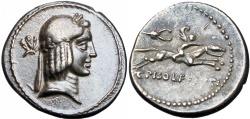 Ancient Coins - Roman republic,  L. Calpurnius Piso Frugi. 90 BC.