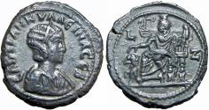 Ancient Coins - EGYPT, Alexandria. Tranquillina. Augusta, AD 241-244. Extremely rare.