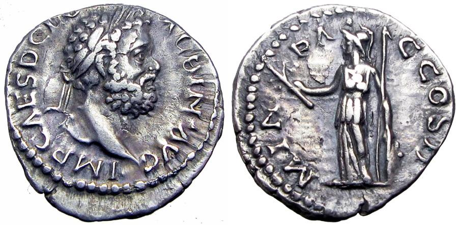 Ancient Coins - CLODIUS ALBINUS. 195-197 AD. Lugdunum mint, bold portrait and nice toning !!!