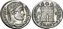 Ancient Coins - Constantine I. AE silvered Follis. Antioch. 330-334 AD.