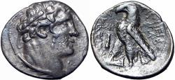 Ancient Coins -  PHOENICIA, TYRE. 126/5 BC-65 AD. JUDAS' 30 PIECES OF SILVER., VERY RARE DATE.