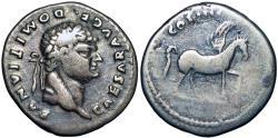 Ancient Coins - DOMITIAN, as Caesar. 69-81 AD.