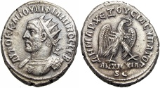 Ancient Coins - SYRIA, Seleucia and Pieria. Antioch. Philip I. 244-249 AD.  attractive bust style with aegis on cuirass.