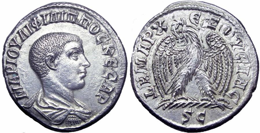 Ancient Coins -  SYRIA, Seleucis and Pieria. Antioch. Philip II. As Caesar, AD 244-247. Stunning !!!!