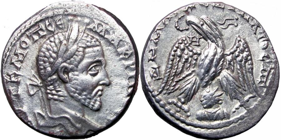 Ancient Coins -  SYRIA, Seleucis and Pieria. Emesa. Macrinus. AD 217-218.