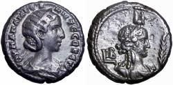Ancient Coins - EGYPT, Alexandria. Julia Mamaea. Augusta, AD 222-235. Very rare type for this regnal year.