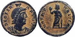 Ancient Coins - Festival of Isis coinage. Rome, time of Julian II(?), mid 4th Century AD. probably unpublished !