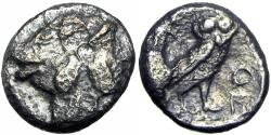 "Ancient Coins - Philistia; 1/4 sheqel / ""Drachm"", Philistia, 450–400 BC , among the rarest and finest of the type."